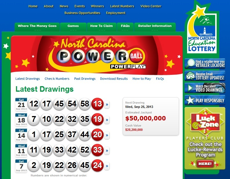 Nc Lottery Winning Numbers