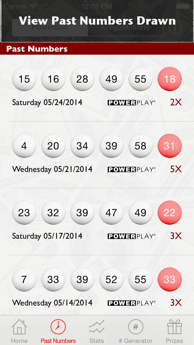 historical powerball numbers photo - 1