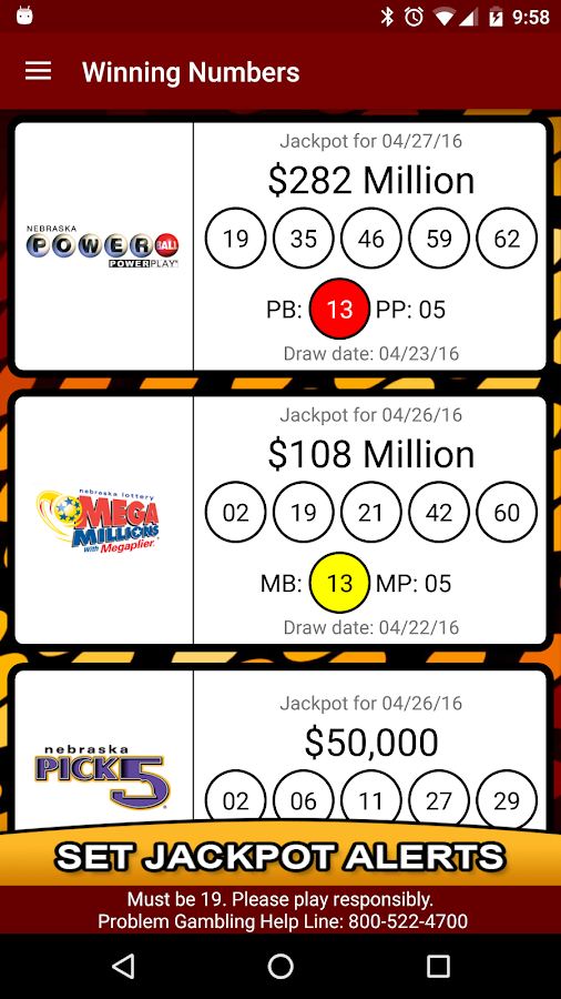 nebraska powerball winning numbers photo - 1