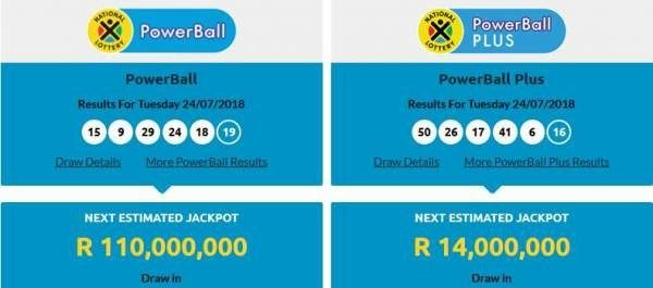 s africa powerball results photo - 1