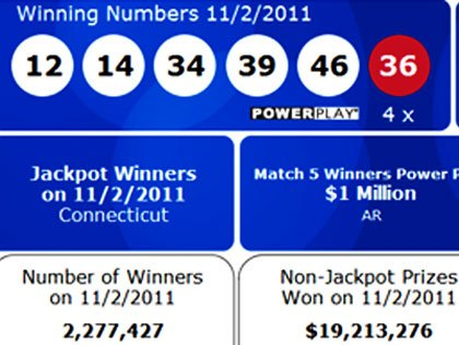 conn powerball numbers photo - 1
