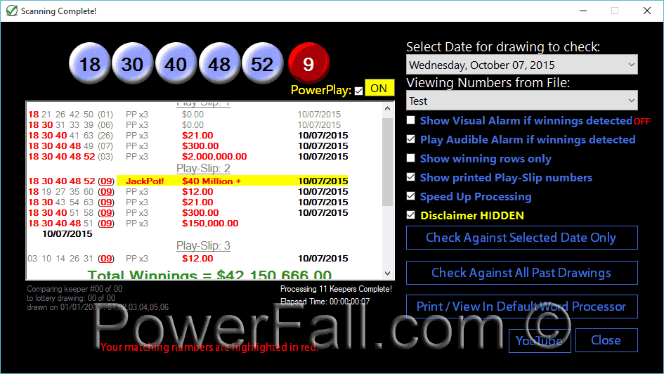 have my numbers ever won powerball photo - 1
