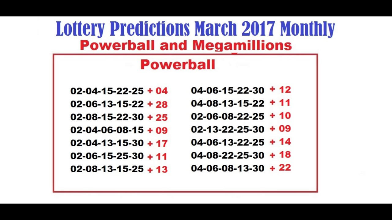 powerball march 1 2017 photo - 1