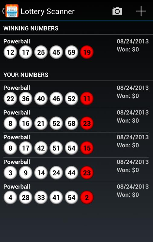powerball scanner android app photo - 1