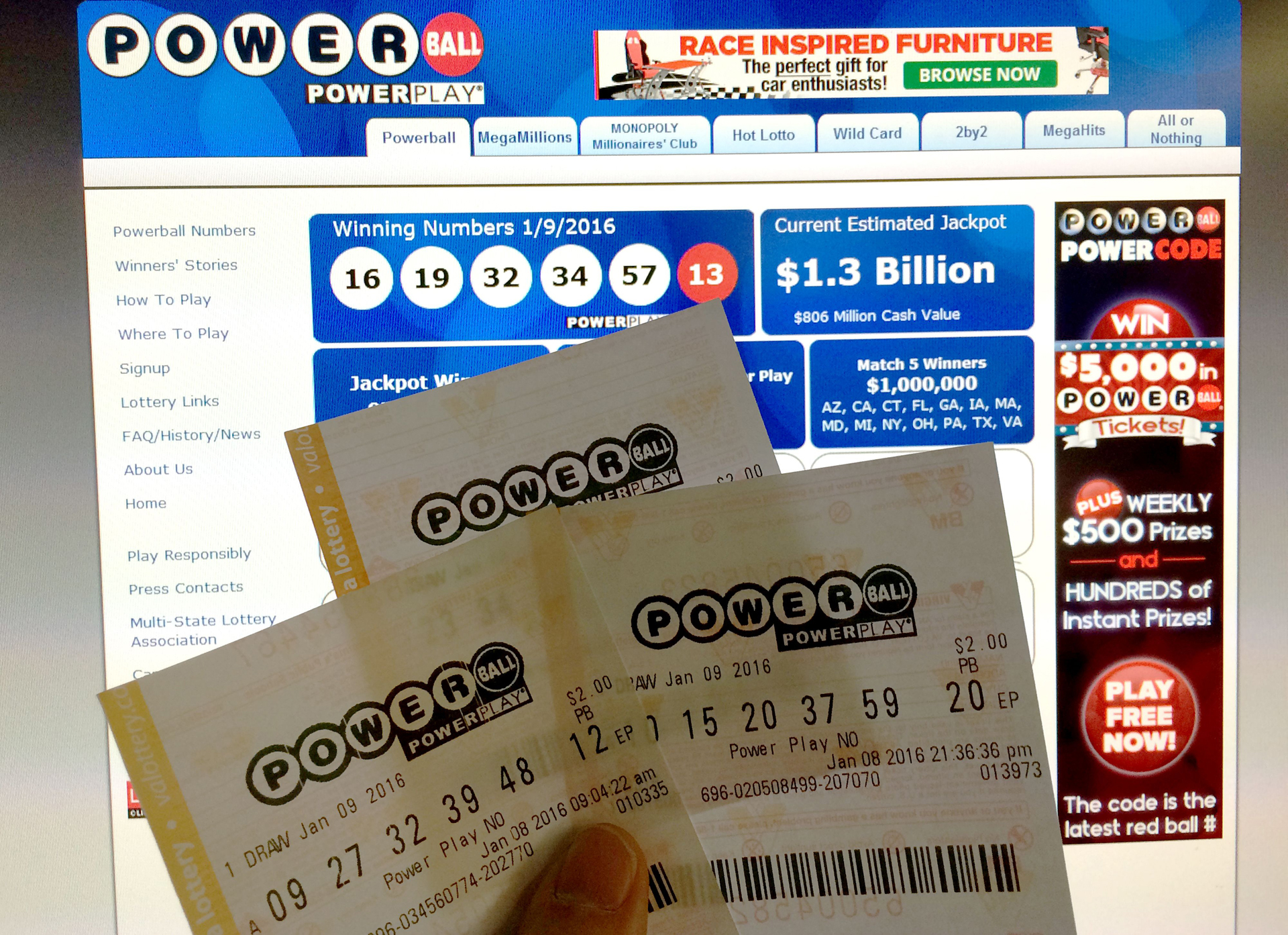 powerball washington state photo - 1