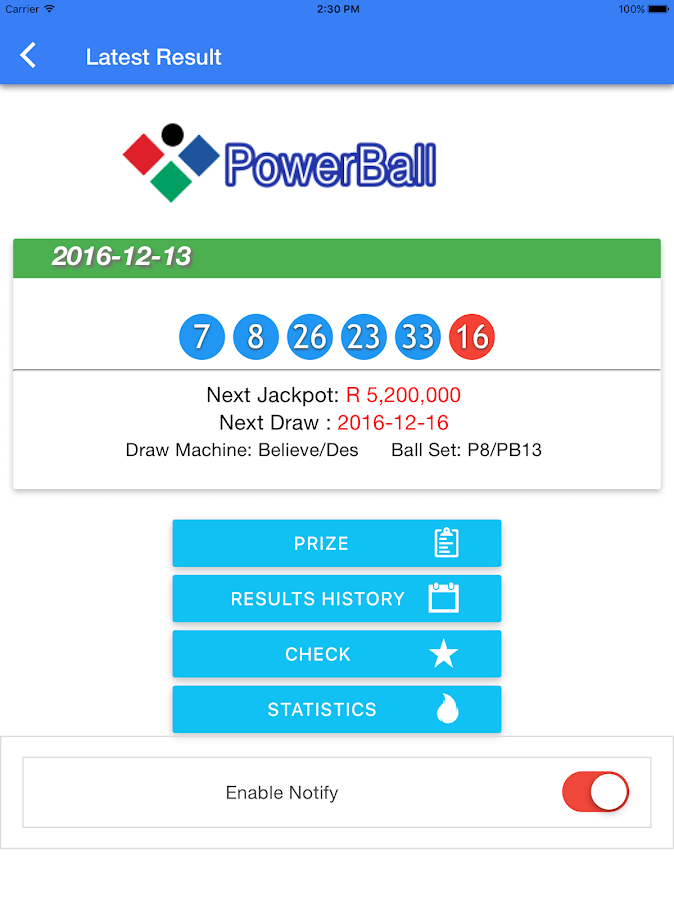 result of powerball photo - 1