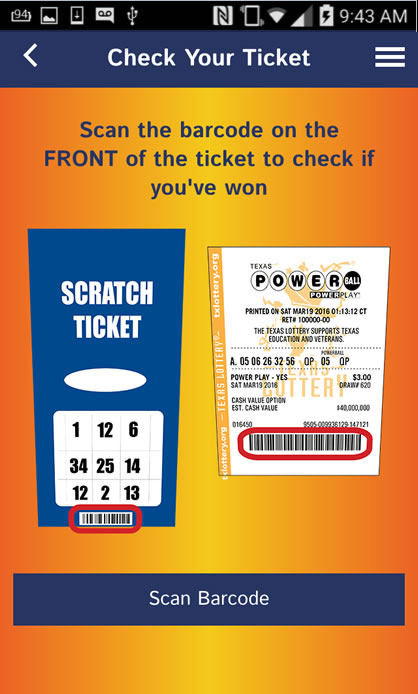 scan powerball ticket with phone photo - 1